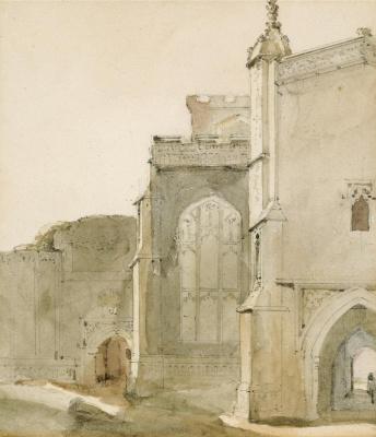 Джон Констебл. Церковь Восточного Бергхольта, южная сторона