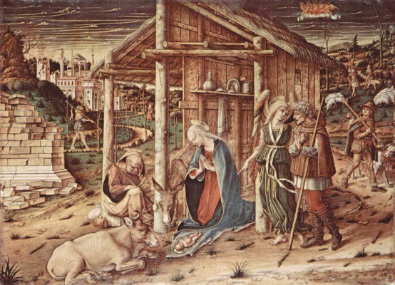 Carlo Crivelli. The adoration of the shepherds