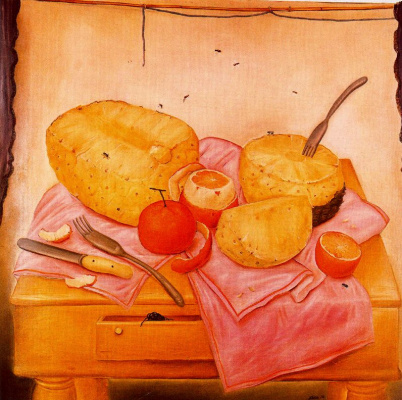 Fernando Botero. Still life with pineapple