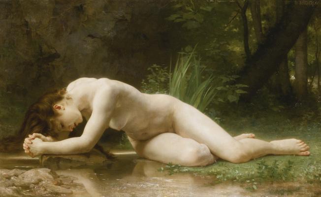 William-Adolphe Bouguereau. Reflection