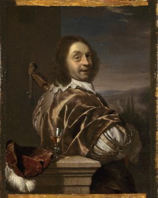 Франц ван Мирис Старший. Автопортрет художника с кифарой