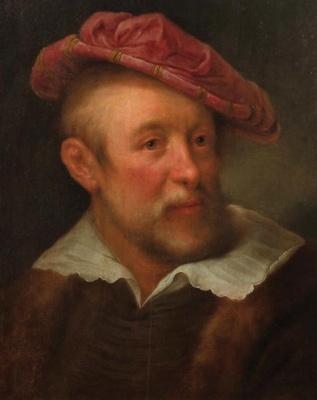 Фердинанд Балтасарс Боль. Портрет мужчины в красном берете