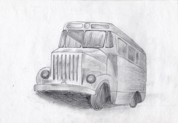Polina. Bus. Sketch