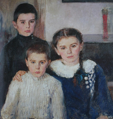 Pavel Petrovich Benkov. Portrait of children Kovalevsky