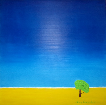 Грей Форестер. Одинокое дерево под чистым, высоким небом
