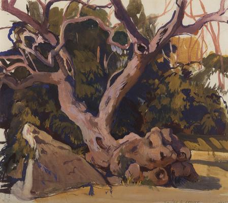 Zinaida Serebryakova. The trees in the Crimea