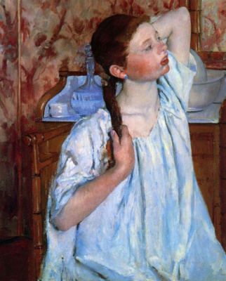 Mary Cassatt. Hair girl
