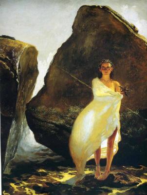 Jamie Wyeth. Girl in white