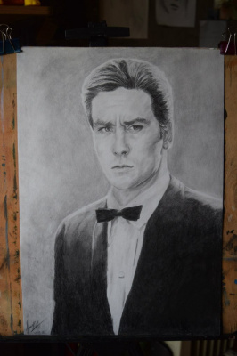 Liana Kvyshko. Portrait of Alain Delon