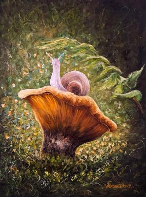Valerika Azamat. Curious snail
