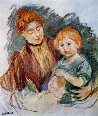 Berthe Morisot. A woman with a child