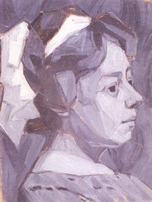Александр Константинович Богомазов. Portrait of the artist's wife (Wanda Monastery)