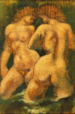 Аристид Майоль. Две обнаженные женщины