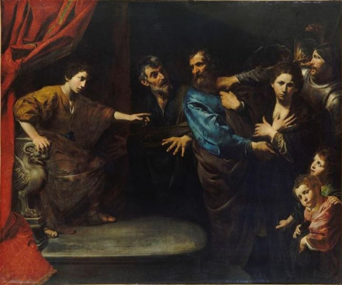 Valentin de Boulogne. The recognition of innocence of Susanna