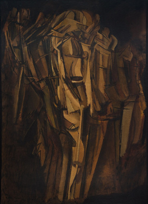 Marcel Duchamp. Sad Young Man on a Train