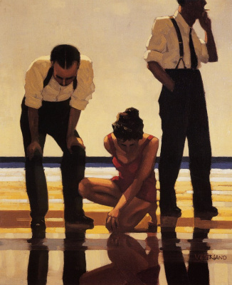 Jack Vettriano. Narcissistic bathers
