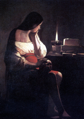 Georges de La Tour. Grieving The Holy Magdalene