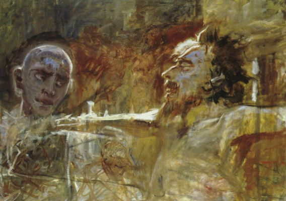 """Nikolai Nikolaevich Ge. Christ and the robber. Preparatory work for the painting """"the Crucifixion"""""""