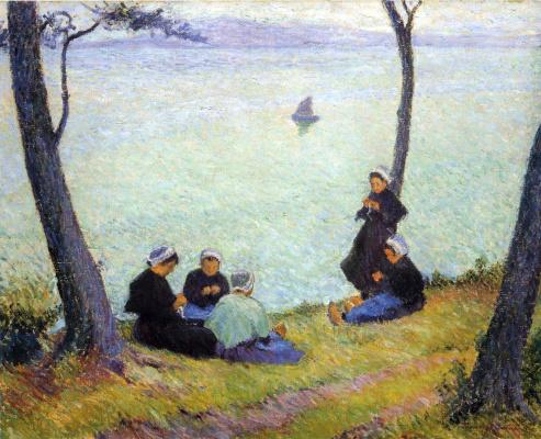 Bernhard Kutmann. Women at the river