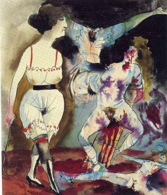 Otto Dix. The dream of a sadist