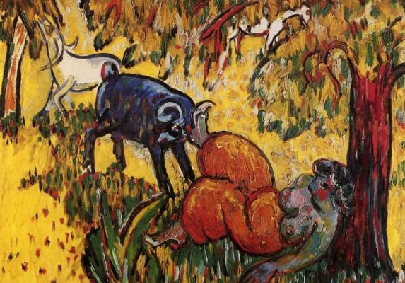 """Mikhail Larionov. Pastoral. Turkish idyll. From the cycle """"Imaginary Journey to Turkey"""""""
