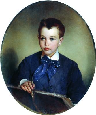 Ivan Kuzmich Makarov. Portrait of Count Peter Sergeyevich Sheremetev in childhood. 1880s