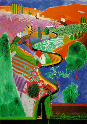 David Hockney. Nichols Canyon