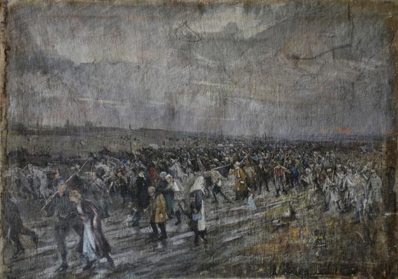 Pavel Petrovich Benkov. White's retreat