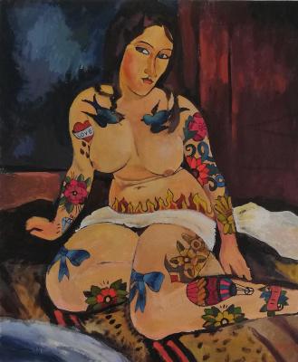 Lubov Harlanova. Sitting naked 2.0