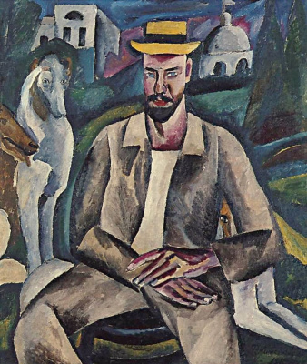 Petr Petrovich Konchalovsky. Portrait of artist Vladimir Rozhdestvensky