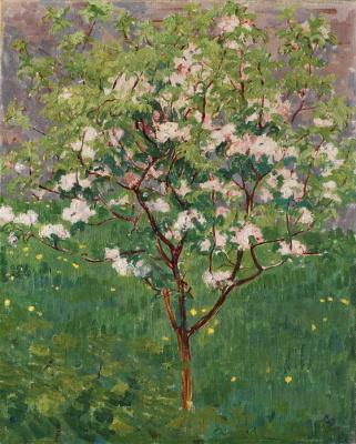 Giovanni Giacometti. Blooming Apple tree