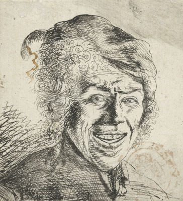Jan Livens. Portrait of a laughing young man