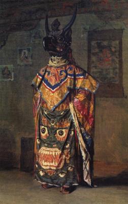 Василий Васильевич Верещагин. Буддиский лама на празднике в монастыре