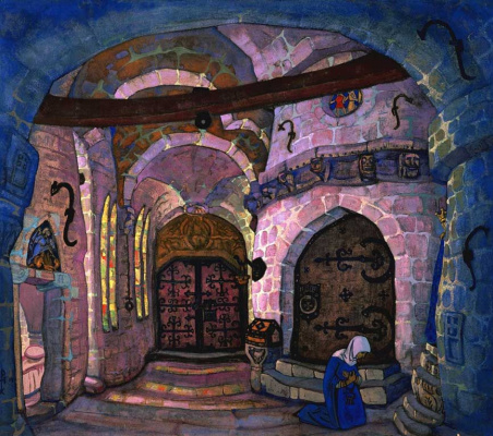 Nicholas Roerich. In the monastery