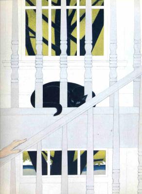 Will Barnet. Black cat