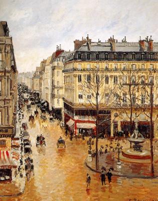 Camille Pissarro. Rue Saint-Honoré. Noon. Rain