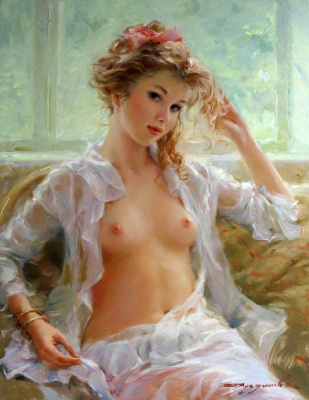 Constantine Razumov. Gold earrings.