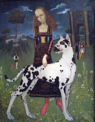 Virgin with a dog