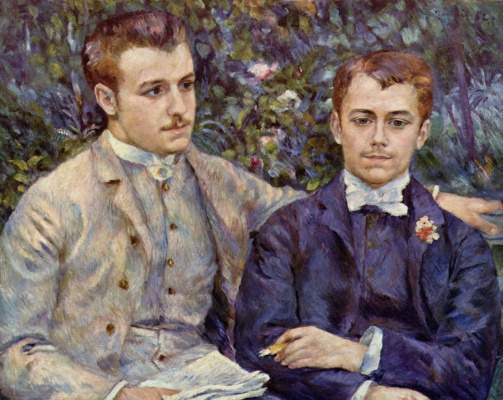 Pierre-Auguste Renoir. Portrait of Charles and Georges Durand-Ruel