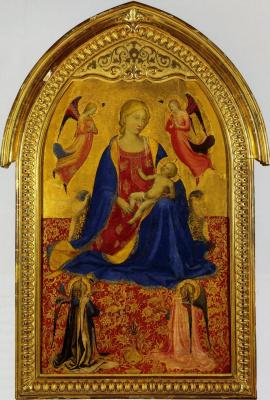 Фра Беато Анджелико. Мадонна с Младенцем и четырьмя ангелами