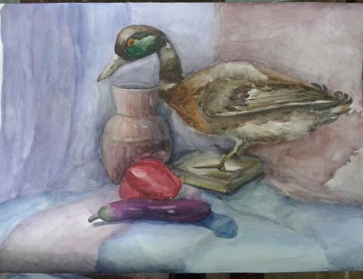 Julia Sergeevna Bochkareva. Still life with a duck