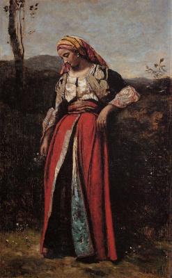 Камиль Коро. Задумчивая женщина востока