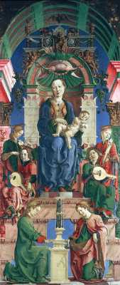 Козимо Тура. Мадонна с младенцем на троне