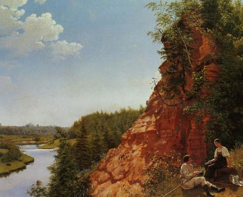 Алексей Васильевич Тыранов. Вид на реке Тосно