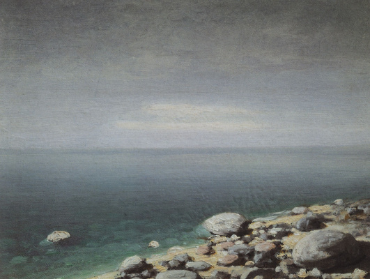 Arkhip Ivanovich Kuindzhi. Clear water. Cloudy day. Crimea