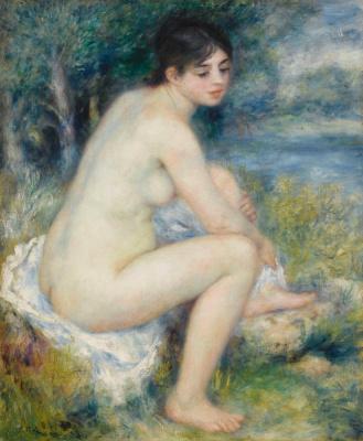 Pierre-Auguste Renoir. Landscape with Nude