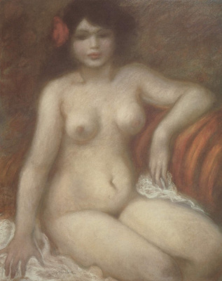 Theophile-Alexander Steinlen. Seated Nude