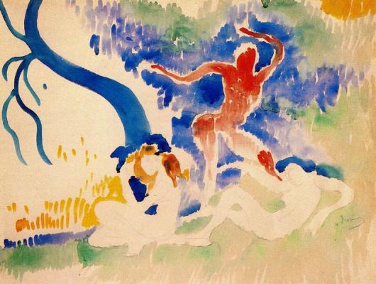 Andre Derain. Dance of the bacchantes