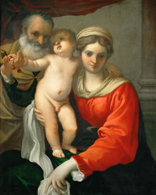 Annibale Carracci. Madonna with cherries