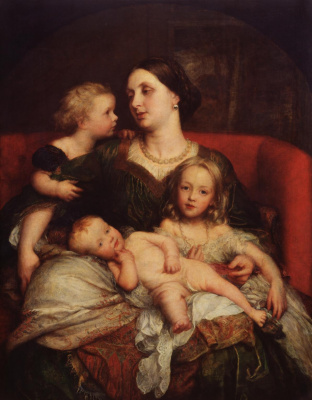 George Frederick Watts. Mrs. Augustus Cavendish-Bentink and her children